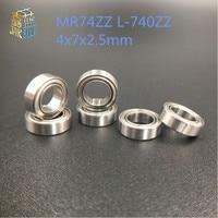 Gratis verzending 5/10PCS mini lager MR74ZZ L-740ZZ 4x7x2.5mm lagers P5 MR74 ZZ 4*7*2.5 groefkogellagers