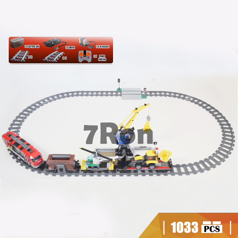 02009 Compatible with Lego blocks City 60098 Engineering Remote Control RC Train Model building toys hobbies bricks for children кастрюля с крышкой metrot вилладжо