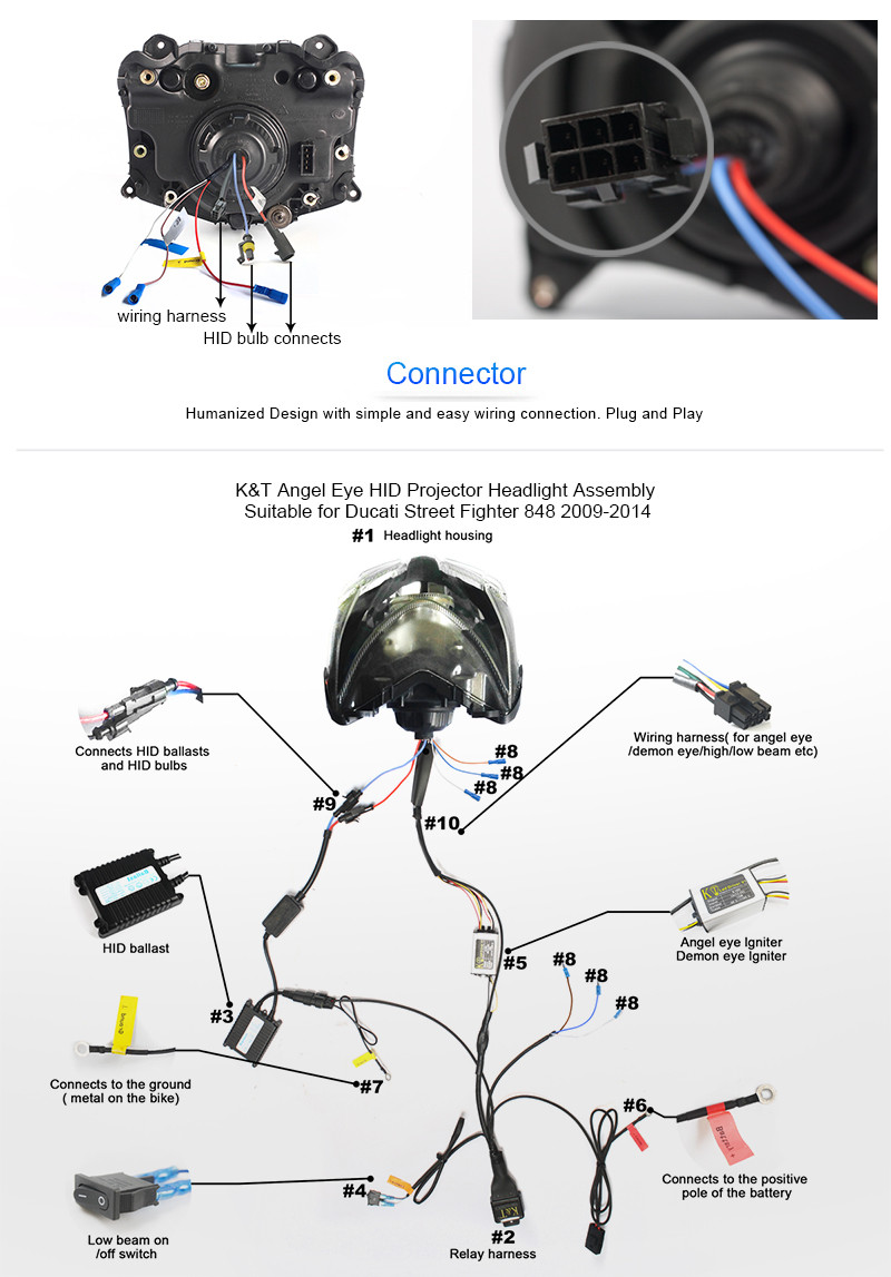 ducati streetfighter wiring diagram kt headlight for ducati street fighter 848 2009 2014 led angel eye  ducati street fighter 848 2009 2014 led