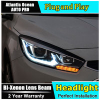 new haed light car styling For Chevrolet Cruze headlights 2014 2015 For Cruze Bi xenon Double lens HID KIT led drl head lamp