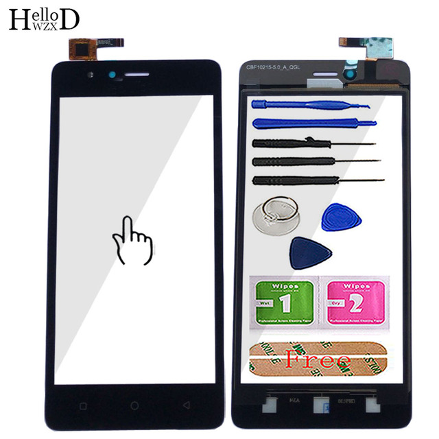 5 Mobile Touch Screen Digitizer Panel For TP Link Neffos C5A Touch Screen Glass Front Lens Sensor Tools Adhesive