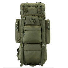 Outdoor Men's new military backpack waterproof 800 D Oxford bags travel 65-70L backpack Hiking notebook laptop boy backpack