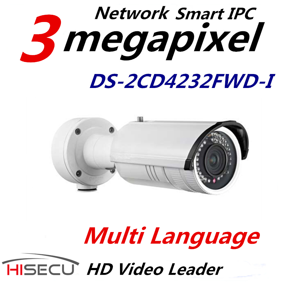 Smart IP camera 3MP 2.8-12mm Vari-Focal lens DS-2CD4232FWD-I CCTV Camera Sectury System Smart Codec Smart IR english version in stock ds 2cd2732f is 3mp ir network ip security camera vari focal lens dome cctv camera supporting sd card page 8