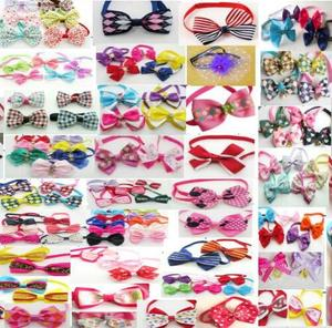 Image 3 - (120pc/lot )Colorful Pet Dog puppy Tie Bow Ties Cat Neckties Dog Grooming Supplies for small middle big dog 6 model Y102