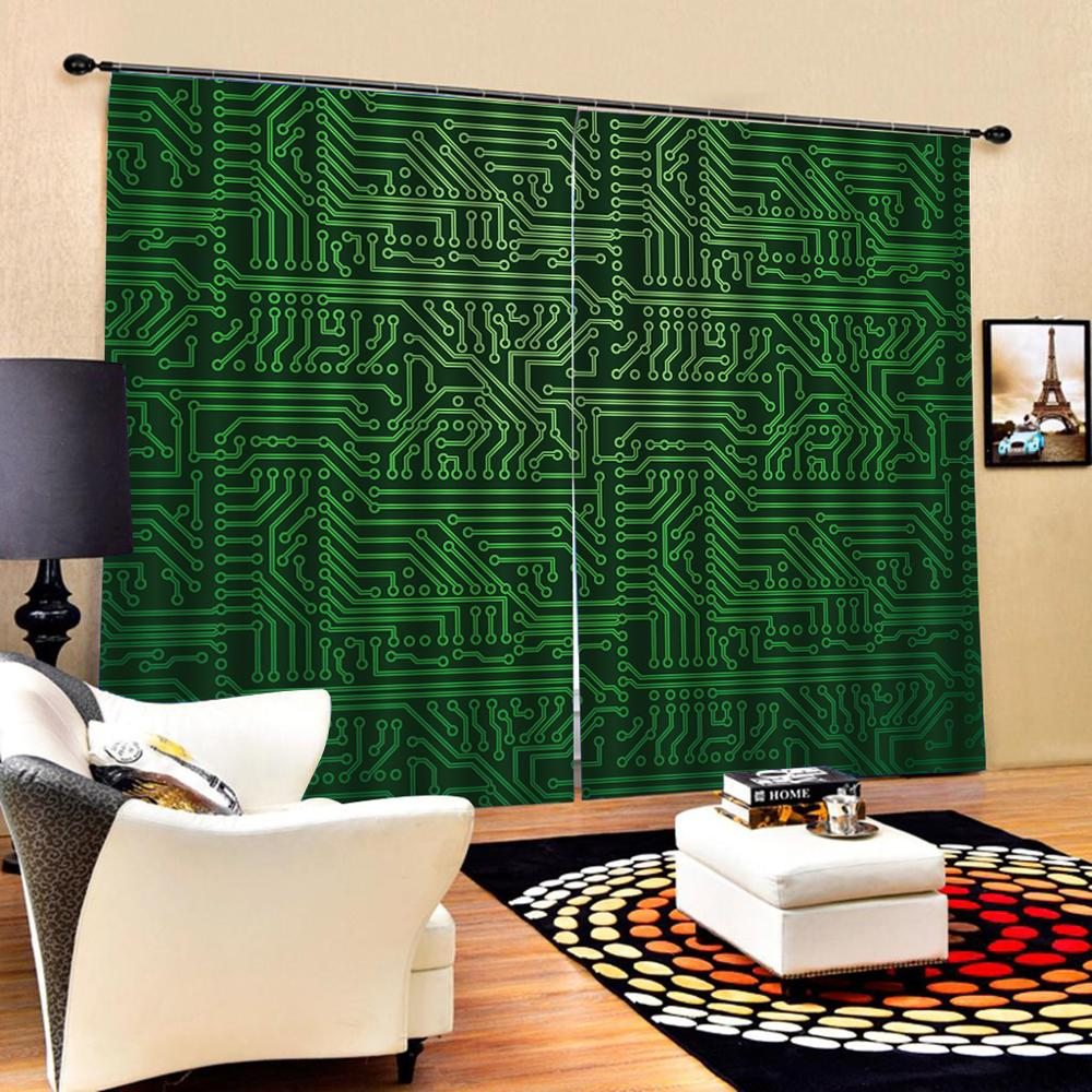 Custom any size 3D Curtain Luxury Blackout Window Curtain Living Room green curtains Blackout curtain in Curtains from Home Garden