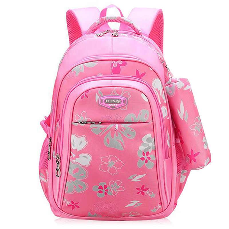 b6b5ce14efc7 ... Новый большой емкости на молнии черный/розовый школьные сумки для  девочек бренд женский рюкзак дешевая ...