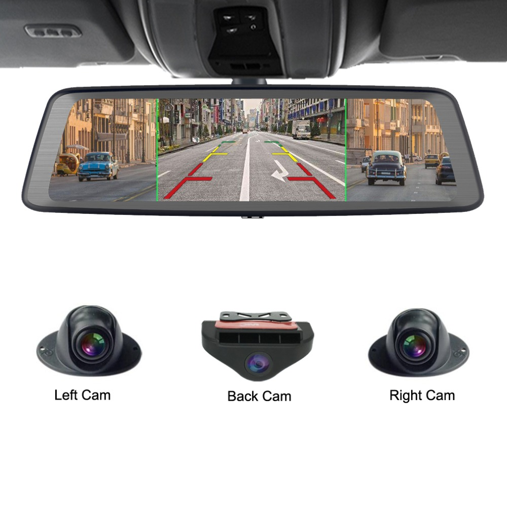 Zuczug 360 градусов панорамный 4CH камера s объектив 10 сенсорный Android Navi Автомобильная камера GPS зеркало заднего вида dvr привод рекордер ADAS Wi-Fi
