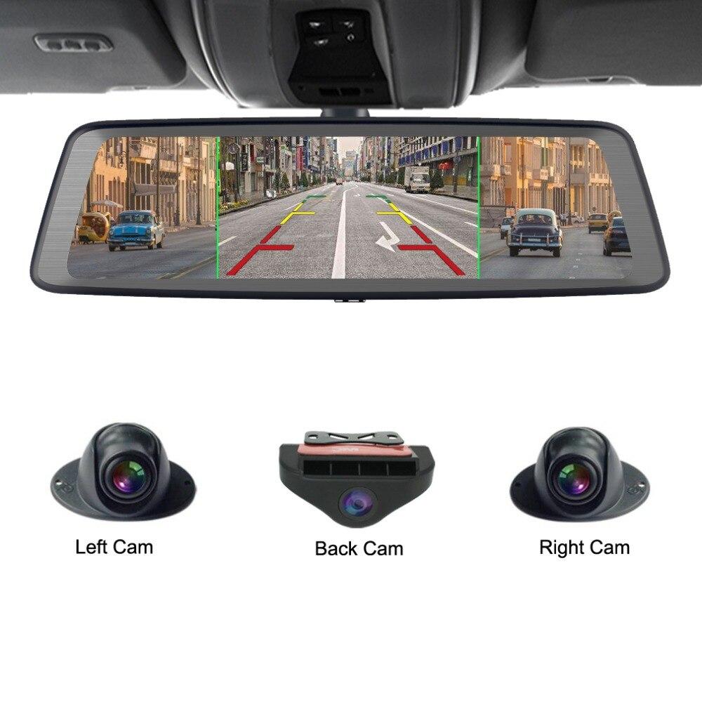 Zuczug 360-degré panoramique 4CH Caméras lentille 10 Tactile Android Navi voiture caméra gps rétroviseur dvr lecteur enregistreur ADAS WIFI