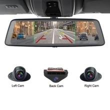 Zuczug 360 градусов панорамный 4CH камера s объектив 10 «сенсорный Android Navi Автомобильная камера GPS зеркало заднего вида dvr привод рекордер ADAS Wi-Fi