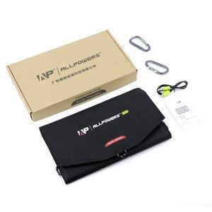 Image 4 - ALLPOWERS güneş pil şarj cihazı taşınabilir 5V 15W 10000mAh USB C taşınabilir GÜNEŞ PANELI şarj cihazı açık havada katlanabilir GÜNEŞ PANELI.