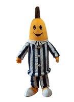 Yüksek kalite ücretsiz kargo muz maskot kostümleri pijama maskot kostümleri Cadılar Bayramı partisi için