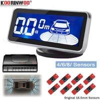 Koorinwoo Parkmaster Original Flat 16.5MM Parking Sensors 8 Voice/BEEP Automobile Radar Blind Car Detector Parking Assist sensor