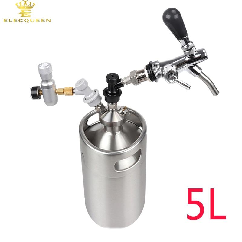 5l Stainless Steel Beer Growler Keg With Mini Keg