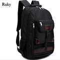 2016 Hot Sale Black Leisure Fashion High Quality Men's travel waterproof Nylon Backpacks bag knapsack Large capacity Laptop bag