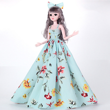 1 Piece Clothes for Doll Accessories Clothes for 60cm BJD Dolls Toys for Girls Fashion Long Dress Accessories Dolls Toy недорого