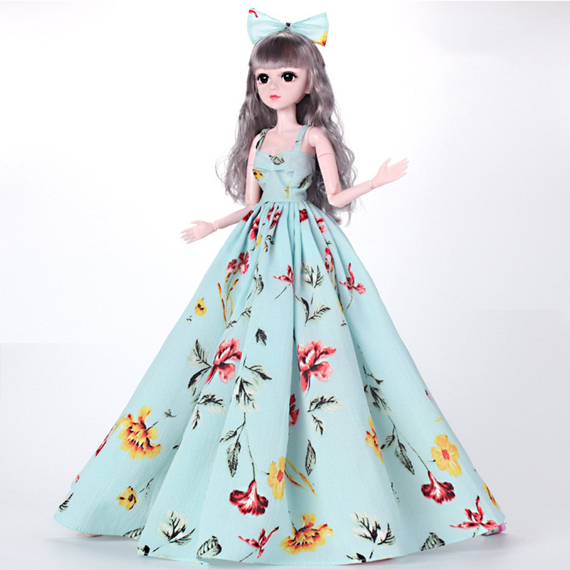 1 Piece <font><b>Clothes</b></font> for Doll Accessories <font><b>Clothes</b></font> for 60cm <font><b>BJD</b></font> Dolls Toys for Girls Fashion Long Dress Accessories Dolls Toy image