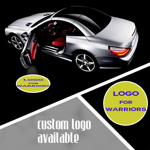 ФОТО LED Car Emblem Welcome Light Step Ground Shadow Ghost Projection Spotlight Logo Light for GOLDEN STATE WARRIORS Basketball #1211