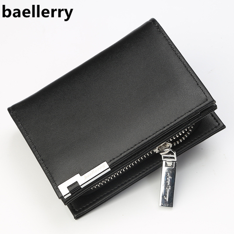 Brand Wallet Men Leather Multifunction Men Wallets Zipper Coin Pocket Trifold Purse Card Holder Hasp Wallet Zipper Purse Male цена
