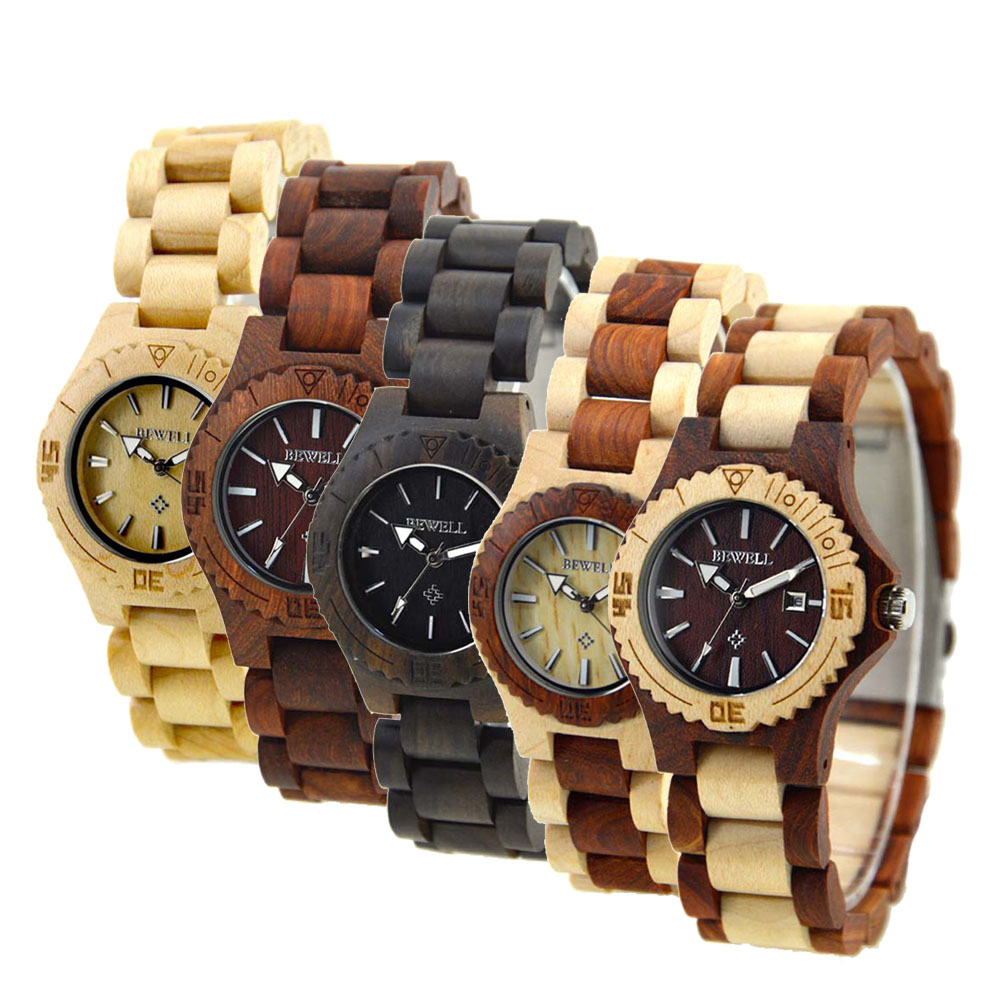 Bewell women wood watch top luxury brand women wooden for Luxury women