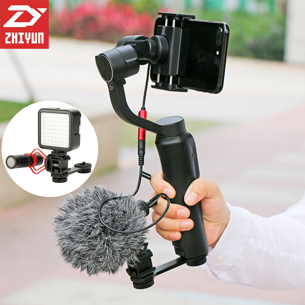 Lisse 4 ZHIYUN 3-Axis De Poche Cardan Stabilisateur Suivi D'objets Steadicam pour iPhone X 7 Samsung Gopro hero SJCAM sport caméra