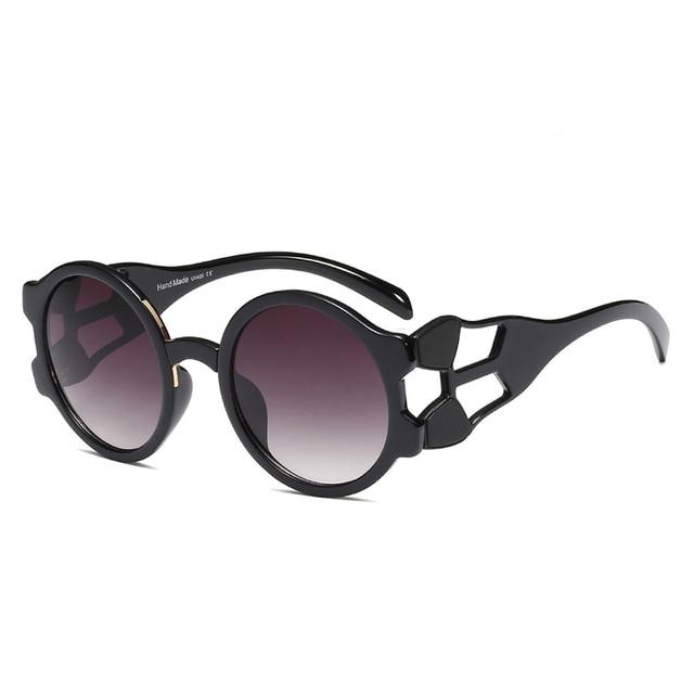 Women Round Sunglasses New Trendy Brand Designer Retro Sun Glasses Chic Hollow Frame Eyewear For Men Women UV400 lente