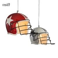 American Soccer Helmets Novelty Pendant Lights Led Hanging Dining Room Lights Loft Decor Industrial Lamp for Bar Living Room E27