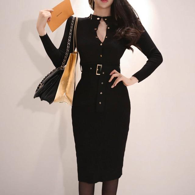 639a44b3fa2c Barato 2019 nuevo Vestido de invierno a la moda para mujer con ...