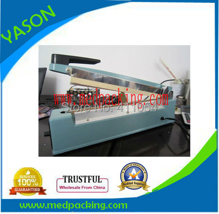 ФОТО 300mm Manual Impulse Plastic Bag Sealer With Letter Imprinte_Band Heat Sealing Machine YS6719027c