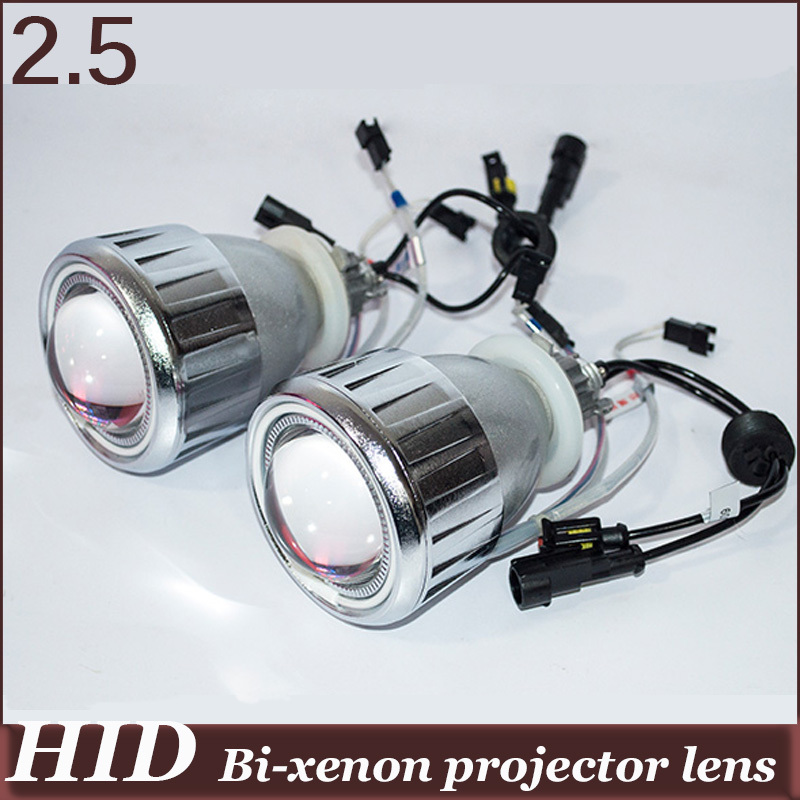 HID Bi-xenon Projector Lens Angel Eye high low beam 4300k 6000k 8000k Xenom Lamp For Auto Headlamp LED Demon Eye Devil Light