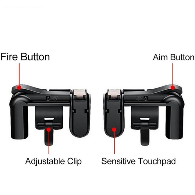 Yoteen Mobile Phone Shooting Game Fire Button Aim Key Buttons L1 R1 Cell Phone Game Shooter Controller for Android IOS Joystick 1