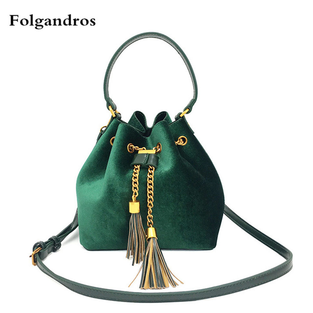 Velvet Shoulder Bag Women Bag Luxury Handbags Designer Brand Ladies Bucket Bags Chain Velvet Crossbody Messenger Bags Sac A Main fashion chain casual shoulder bag messenger bag luxury handbag famous brand women designer crossbody bags lady clucth sac a main