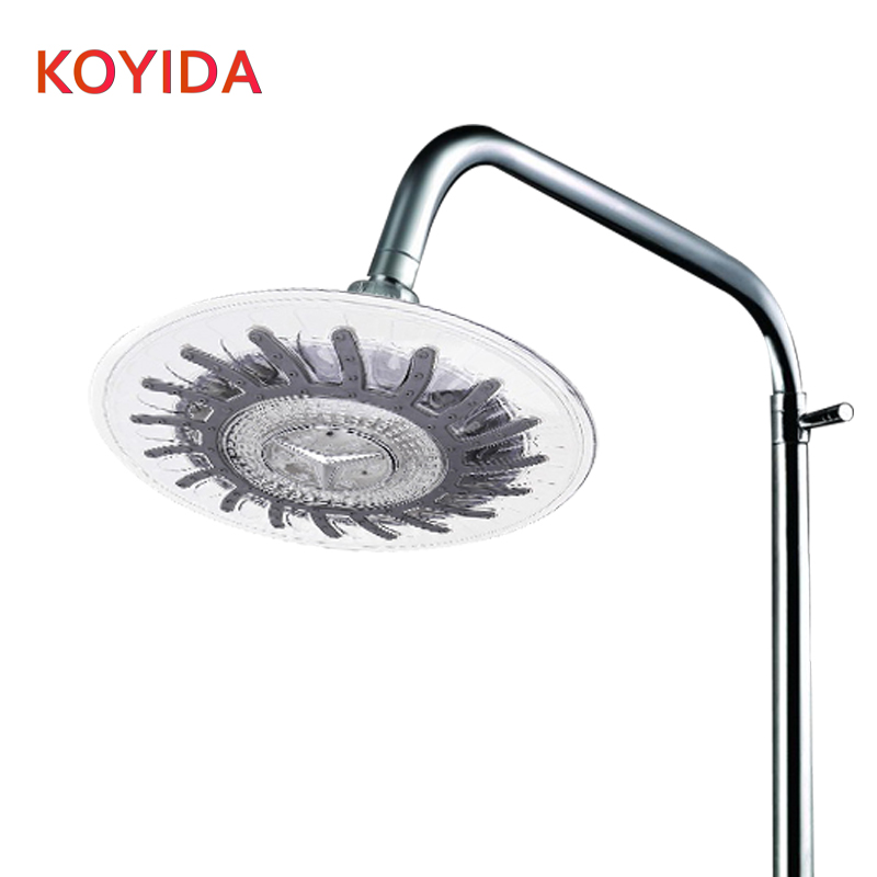 koyida plastic wall mounted chrome shower head duchas led colores water temperature led shower head waterfall