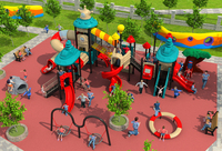 CE ISO TUV Customized School Playground Structure Big Children Plastic Slide Kids Qualitied Outdoor Play Equipment