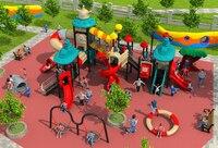 CE ISO TUV Customized School Playground Structure Big Children Plastic Slide Kids Qualitied Outdoor Play Equipment