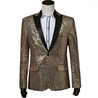 Mens Gold Sequined Blazer Red Mens Stage Jacket Silver Mens Sequin Jacket Royal Blue Men's Sequin Tuxedo
