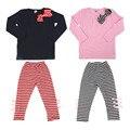 New Autumn Spring Kids Baby Girld 2pcs Infant Clothing Set Long Sleeve T-Shirt+ Long Pants Fashionable Design Child' Good Gift