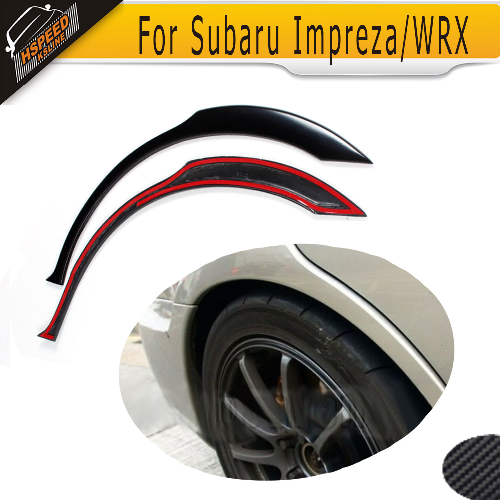 Rear Winde Car Fender Flare Arch Trims Mouldings Kit For Subaru Impreza WRX STI 2003-2006 PU