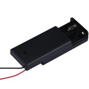 Image 5 - חדש 2018 2 x AA 3V סוללה מחזיק מחבר אחסון מקרה תיבת על/כיבוי עם חוט מוליך אבר Dropshipping אפריל 6