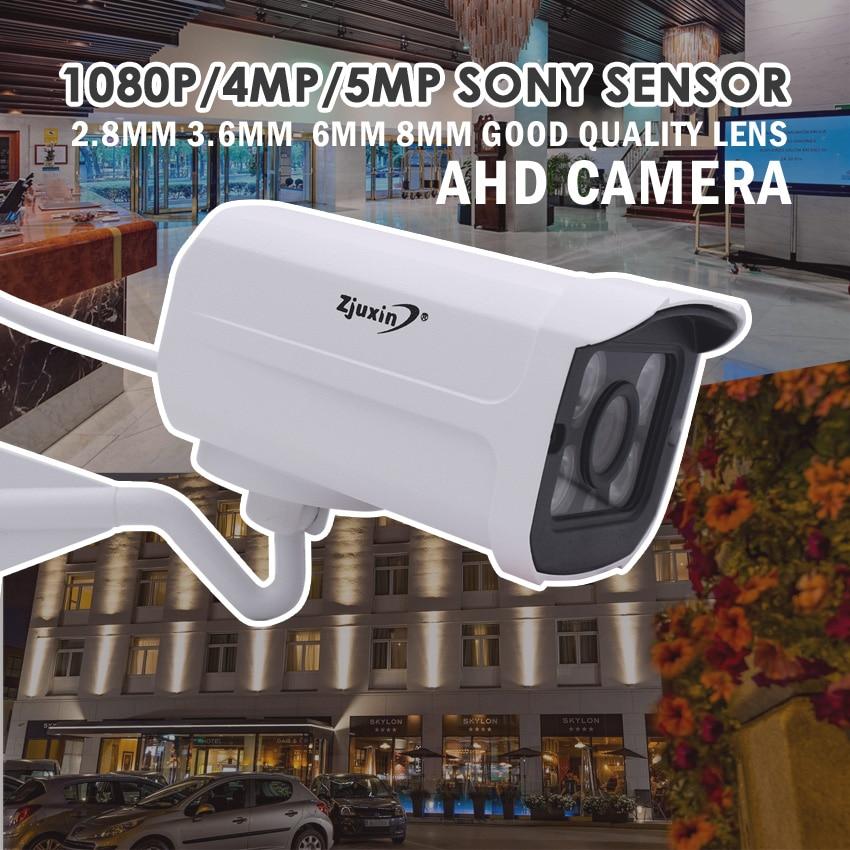 ZJUXIN 1080 p/4MP/5MP ahd caméra 4 pcs tableau CONDUIT SONY IMX323/OV4689/SONY326 solution utiliser 2.8mm/3.6mm/6mm/8mm/Manuel 2.8-12mm Lentille