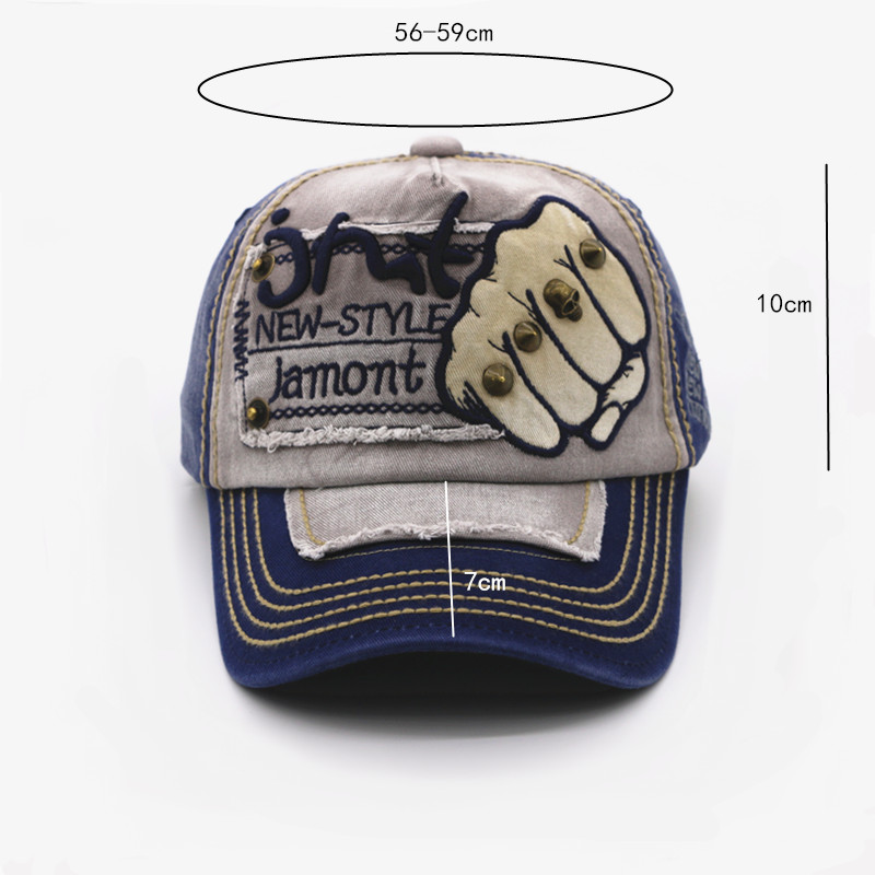 Topdudes.com - Embroidery Fist Adjustable Casual Baseball Golf Snapback Casquette Unisex Outdoor Sports Caps