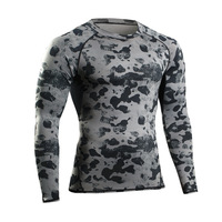 Men T Shirt Long Sleeve Fitness Clothes Camoflage Crossfit Gym Clothing Tight Tops Man Tee Shirts