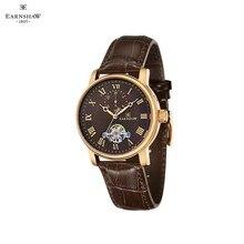 Наручные часы Earnshaw ES-8042-05 мужские механические с автоподзаводом на кожаном ремешке