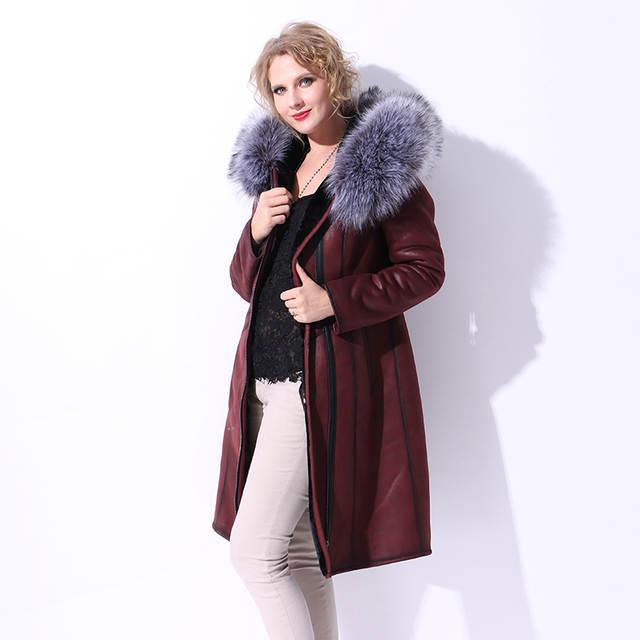 2ef9791fe676d S-7XL Plus Size Winter Fur Jacket Long Women Russian Synthetic Fox Fur  Hooded Suede