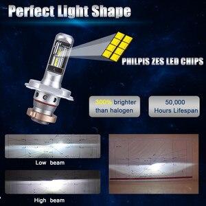 Image 4 - Mdatt Siêu Làm Mát LED Xe Hơi 100W Quạt Không Cánh Bóng Đèn Pha H4 LED H1 H7 9005 9006 Có Thể Gập Lại Quạt Lá 12V Xe Ô Tô Tự Động Đèn Xi Nhan CANBUS
