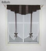Nuevo plisado cenefa diseño costura colores tulle cocina balcón ventana cortina Sheer onda persianas 1 unids