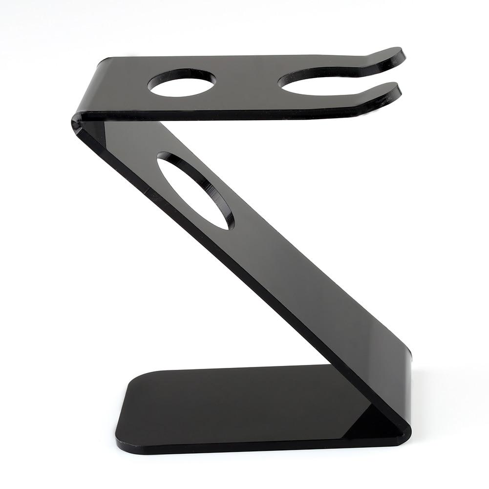 Barber Salon Stativhållare Svart Z Stativhållare för Rak Rakare och Borste Tool Rakning