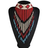 Etnik Moda bijoux gerdanlık Vintage Bohemian bildirimi kolye Boncuk püskül çingene etnik maxi Kolye Kadın takı