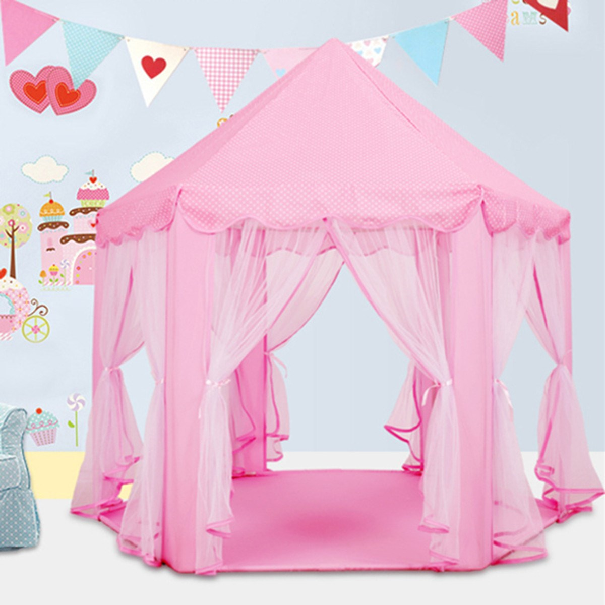 Lovely Girls Pink Princess Castle Cute Playhouse Children Kids Play Tent Outdoor Toys Tent For Children Kids-in Toy Tents from Toys u0026 Hobbies on ...  sc 1 st  AliExpress.com & Lovely Girls Pink Princess Castle Cute Playhouse Children Kids ...