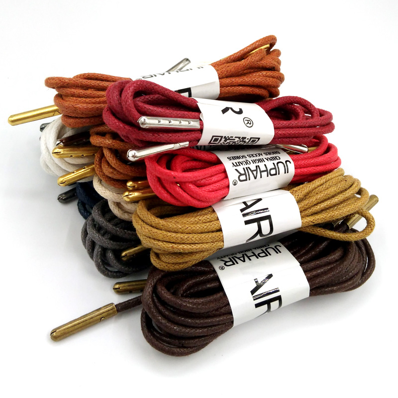 1 12 Pairs Red Women High Quality Unise Laces Waxed Round Shoelaces Sneaker Solid Polyester Twisted Shoes Metal Head Shoelaces in Shoelaces from Shoes