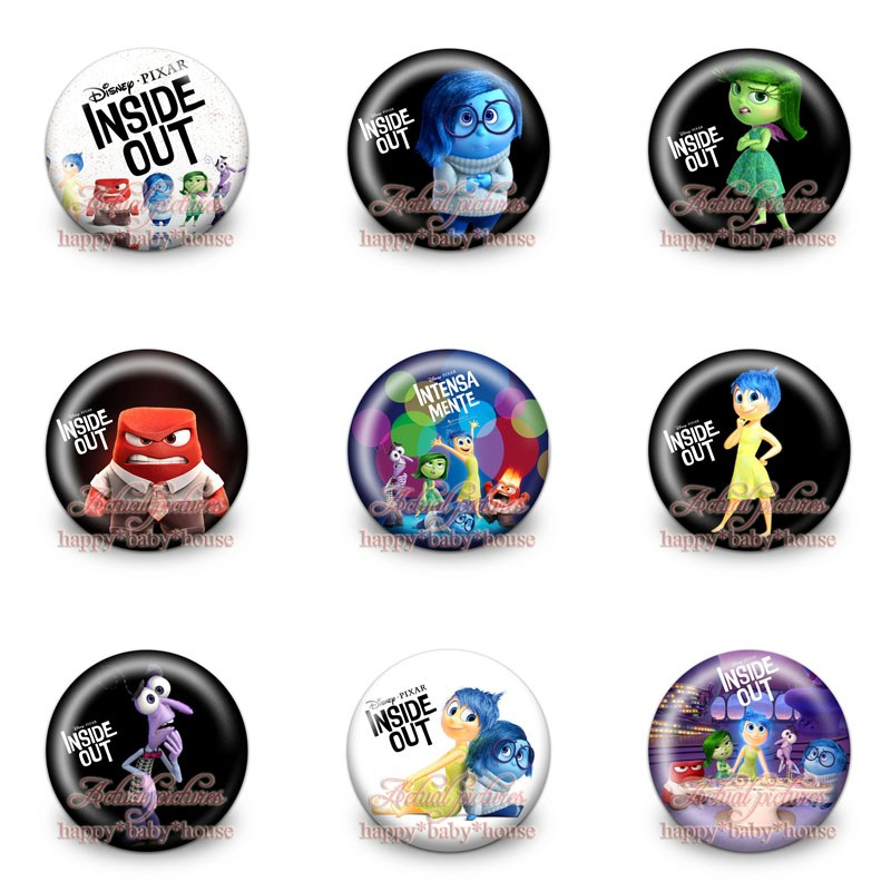 Hot 18pcs Princess Cartoon Logo 30mm Diameter Novelty Buttons Pins Badges Round Brooch Badges Kids Party Gifts Bags Accessories High Quality Luggage & Bags